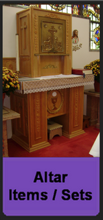 Church Altar items offered for sale below original cost